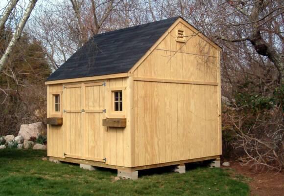 Storage shed for Dormered cape